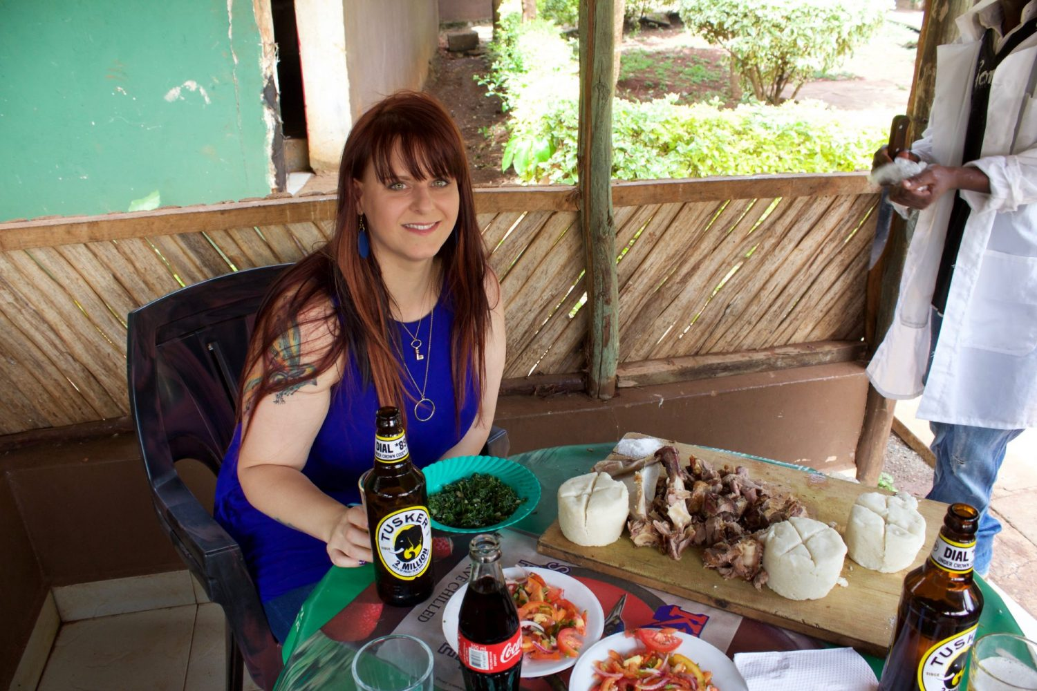 Natalie Brown Kenya 2015 Eating Kenyan Meal
