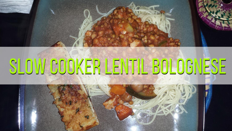 Vegetarian Lentil Spaghetti Bolognese
