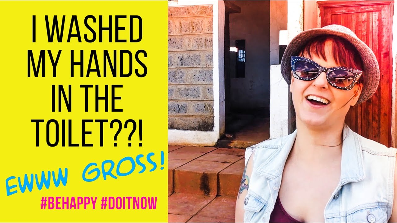 I washed my hands in the toilet??! #kenya #vlog #adventure
